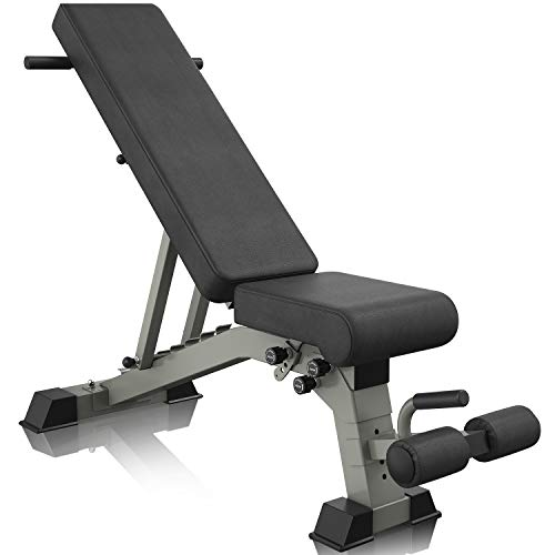YouTen 2019 New Version Adjustable 9 Positions Incline Decline Sit