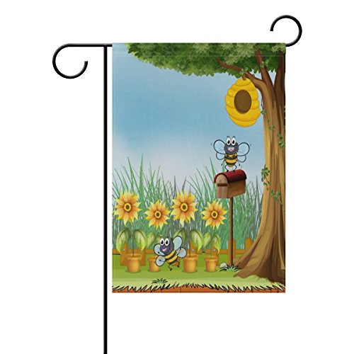 ALAZA Summer Spring Garden Yard Flag, Double-sided 12 x 18 I