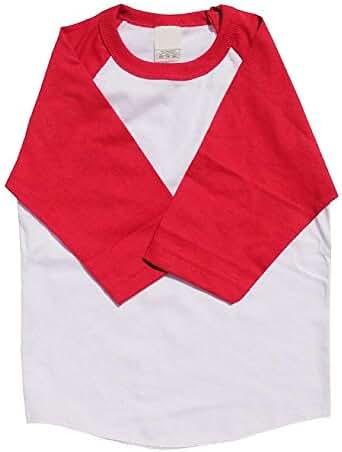 KS Kids Raglan T Shirts Baseball 3/4 Sleeves Baby Tee School Uniform