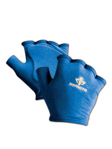 Impacto 501-00 S Anti-Impact Glove Liner with Padding, Pair, Small, Blue by Impacto