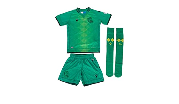 Macron Real Sociedad Kit Oficial 2 2019/2020 - XS, Verde: Amazon ...