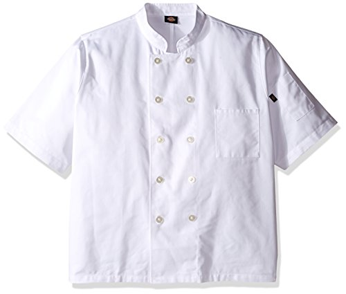 Dickies Chef Men's Big and Tall Short Sleeve Button Coat, White, XXX-Large from Dickies Chef