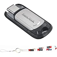 SanDisk Ultra USB Type CTM 128GB Flash Pen Jump Drive High Performance up to 150MB/s (SDCZ450-128G) with (1) MemoryMarket Lanyard