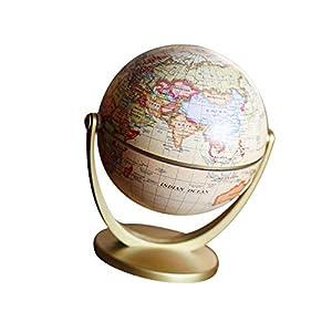 Ruiting Mapa del Mundo Antiguo Globo 4.7″ Plastic Geografía Globo de los Regalos Decor niños Juguetes educativos Rotación Globo del Escritorio