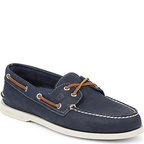 Sperry Top-Sider Men's a/O 2-Eye Cross Lace Boat Shoe, Navy, 11.5 M (Blue Boat Shoes)