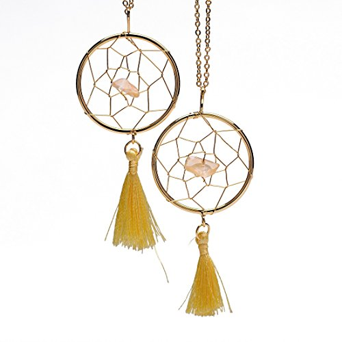 Sedmart Amethyst Aventurine Dreamcatcher Necklace