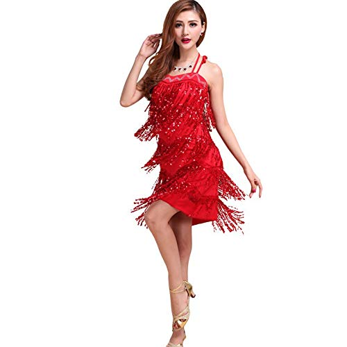 Amazon.com: Autumn Water Dance Dress for Girls Women Latin Dance Dress Ballroom Dance Wear Tassel Latin Costume Vestidos: Kitchen & Dining
