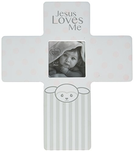 Precious Moments Precious Lamb Jesus Loves Me Cross Photo Frame Girl 163454 Baby Lamb Photo Frame