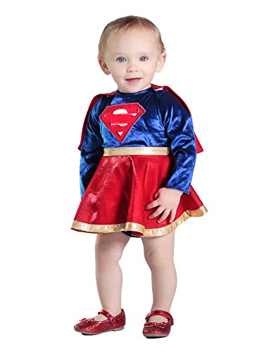 Princess Paradise Baby Girls' Supergirl Costume Dress and Diaper Cover Set, As Shown, 6 to 12 Months -