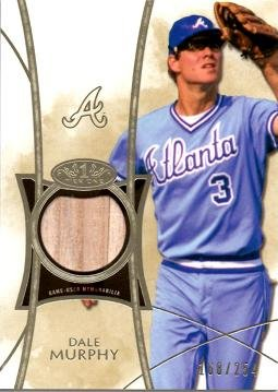 2014 Topps Tier One Relics #TOR-DM Dale Murphy Game Used Bat Baseball Card - Only 254 made!