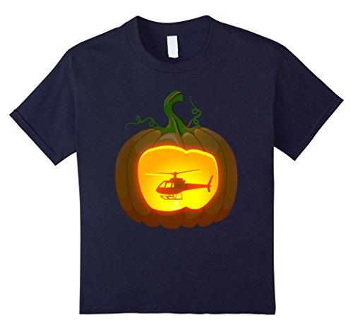 Kids helicopter Pumpkin Halloween shirt 8 Navy by Pumpkin halloween costume Vehicle shirts