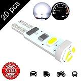 LED Monster 20 x T5 5 SMD White Chip Instrument Speedo DASHBOARD LED CAR LIGHT For 1990-2012 Honda Civic