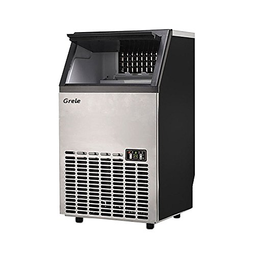 GRELE Commercial Ice Maker Built-In Undercounter Free Standing Ice Machine for Restaurants Bars Grocery Stores,Stainless ()