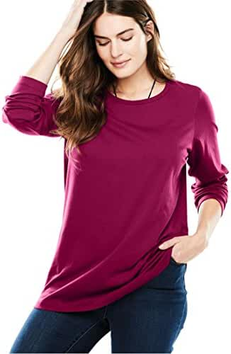 Women's Plus Size Top, Perfect T-Shirt With Crew Neck
