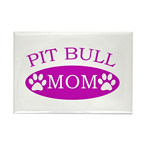 CafePress Pit Bull Mom Rectangle Magnet, 2