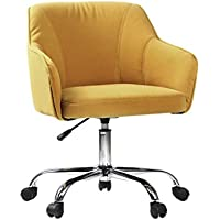 VIVA OFFICE Fabric Swivel Task Chair with Arms, Yellow