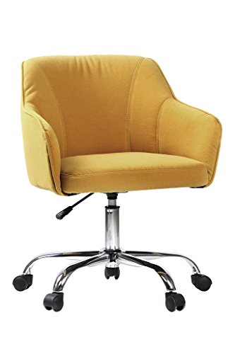 VIVA OFFICE Fabric Swivel Task Chair with Arms, Yellow by VIVA OFFICE