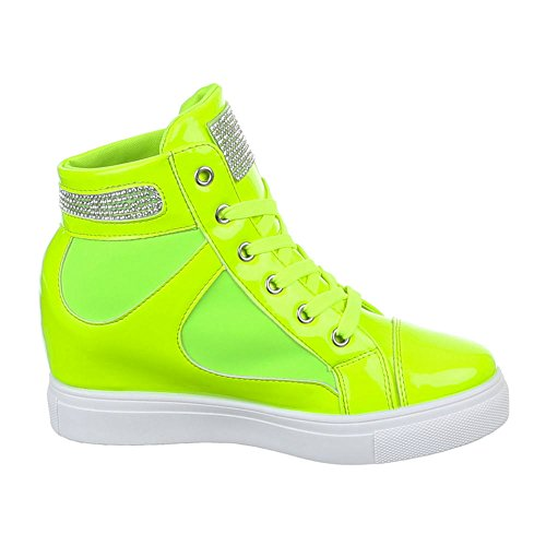 Ital-Design - zapatos de tiempo libre Mujer Verde - Neongrün