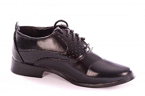 Boy et bébés élégant noir lisse Chaussures à lacets formelle Enfant de 3 à 4 grands garçons