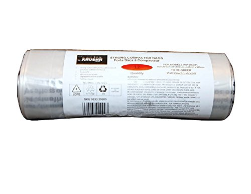 Krushr K015-K021-BAGS Compactors Bags Compatible with Models K015 and K021 (Trash Compactor 12 Inch)