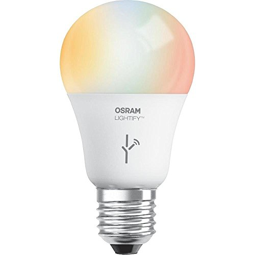 SYLVANIA LIGHTIFY by Osram – Smart LED Light Bulb, 60W A19, Warm White to Daylight, 1900K – 6500K, RGBW Color Changing