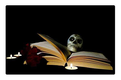 (Tree26 Indoor Floor Rug/Mat (23.6 x 15.7 Inch) - Halloween Book Candle Magic Postcard)