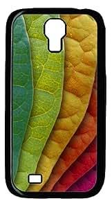 Colorful Leaves Custom Samsung Galaxy I9500/Samsung Galaxy S4 Case Cover Polycarbonate Black