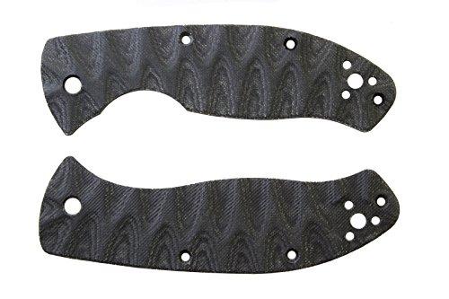 Scale for Spyderco Tenacious Grooved Black Micarta custom knife handles