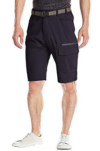 FASKUNOIE Cargo Shorts for Men Messenger Work Shorts with Zipper Pockets Navy