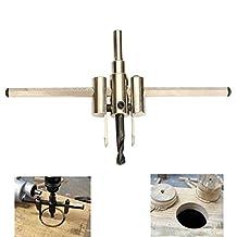 HDDU 1pc 30mm-200mm Adjustable Circle Cutter Drill Bit Wood Twist Hole Tools Hole Saw Drill Bit Kit Tool Set for Woodworking
