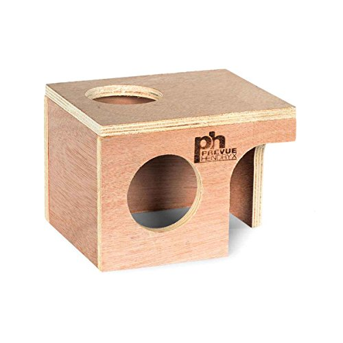Prevue-Hendryx Hamster Hut Wood (Medium, 6 1/4 x 5 1/8 x 4 1/2 Inch)