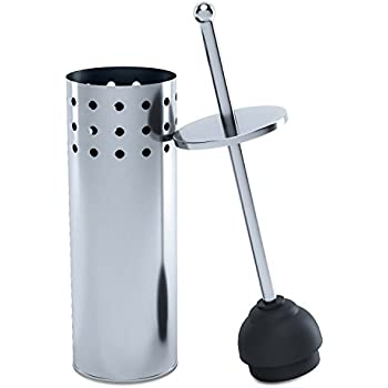 Amazon Com Home Intuition Chrome Vented Toilet Plunger