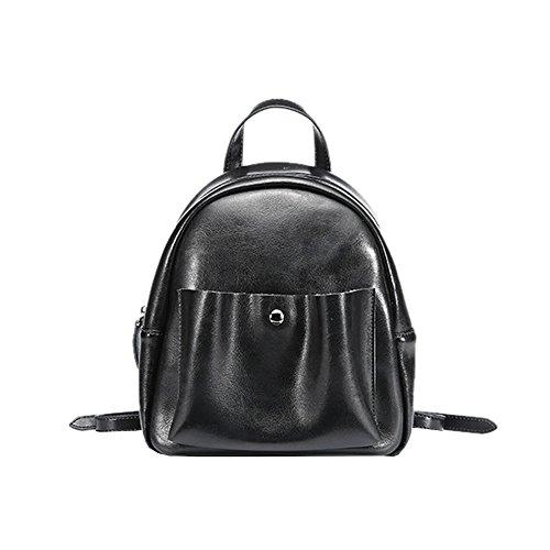 DISSA EQ0886 Damen Leder Handtaschen Satchel Tote Taschen Schultertaschen Schwarz LhiOGEgt