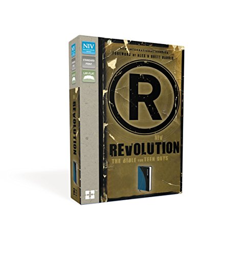 NIV, Revolution: The Bible for Teen Guys, Leathersoft, Blue/Charcoal: Updated Edition (Best Bible For Teens)