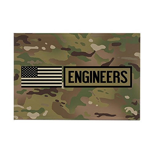 CafePress U.S. Army: Engineers (Camo) Rectangle Magnet, 2