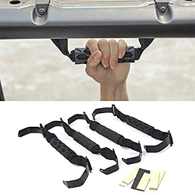 Front and Rear Grab Handles for 2020-2020 Jeep Wrangler JL and 2020 Jeep Gladiater JT - Set of 4-: Automotive