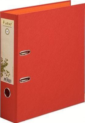 Archivador de palanca Forever, lomo 80 mm, recubierto, papel reciclado, colores rojo/naranja - Lote de 10: Amazon.es: Oficina y papelería