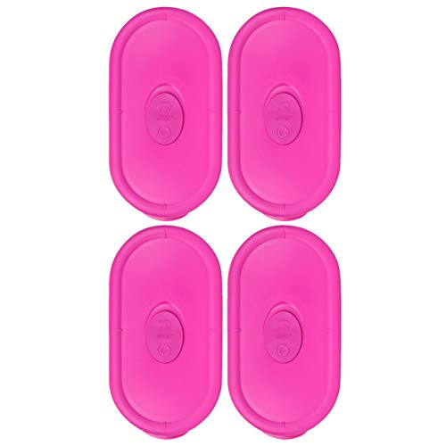 Oblong Divided - Pyrex 8300-VPC Berry Pink 2 Cup Divided Oblong Vented Container Lid - 4 Pack