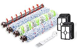 1 Set Pet & Multi Surface & Wood Floor & Area Rug Brush Rolls and 2 Pack 1866 Filters Compatible with Bissell CrossWave 1785 2306 Series Wet Dry Vacuum CleanerContains 1 Pack 2306 Multi-Surface Pet Brush Roller,1 Pack 1868 Multi-Surface B...
