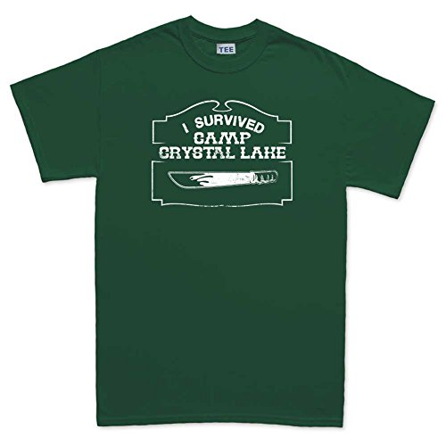 [Mens Crystal Lake Survivor Halloween Costume T Shirt (Tee) 3XL Forest Green] (Lake Forest Halloween Costumes)