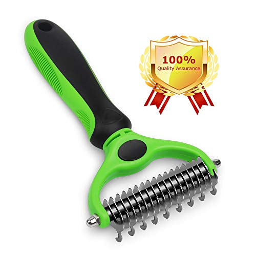 AriTan Pet Grooming Rake Tool, 2 Sided Dematting Comb for Cats and Dogs, Hair Remover Deshedding Brush