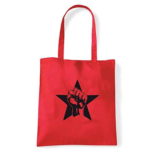 Pugno L'épaule rosso Art À Femme Porter Pour T bag shirt Rouge Sac FCvAq