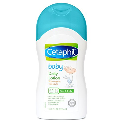Cetaphil Baby Daily Lotion with Organic Calendula, Sweet Almond Oil and Sunflower Oil, Value 3 Pack ( 13.5 Ounce each ) -
