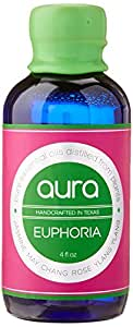 goobsi Euphoria Aura Artisan Aromatherapy Mist with Pure Essential Oils for Home, Body & Yoga, 4 fl. oz.