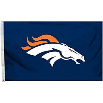 Amazon Com Nfl Denver Broncos Logo Flag With Grommets 3