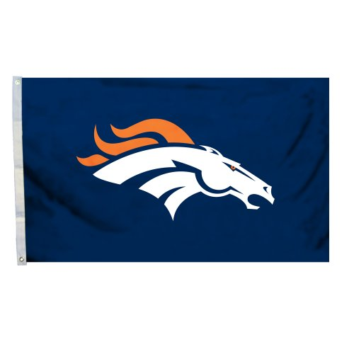 NFL Denver Broncos Logo Flag with Grommets, 3 x 5-Foot