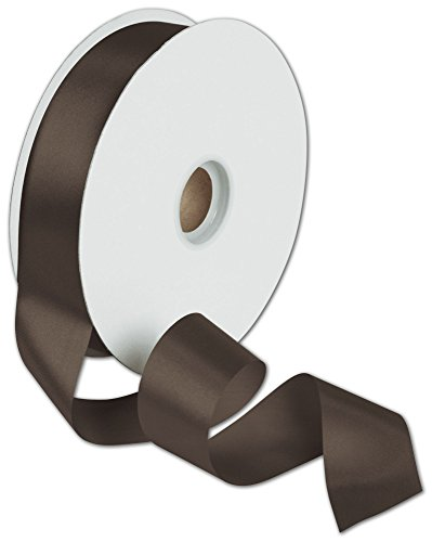Ribbons Solid Color - Dyna Chocolate Satin Ribbon, 1 3/8