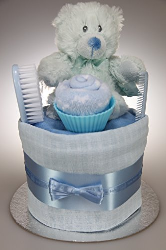 y Boy Single One Tier Nappy Cake Baby Shower New Baby Gift ()