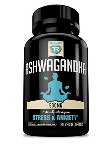 Ashwagandha 500mg Natural Stress Support and Anxiety Relief Supplement | 60 Veggie Capsules (500mg)