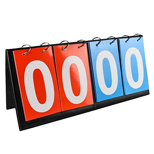 WUYASTA 4-Digital Tabletop Sports Scoreboard for Football Volleyball Basketball Multi Sports Score Scoreboard